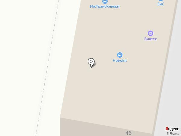 ИЖТРАНСКЛИМАТ на карте Ижевска