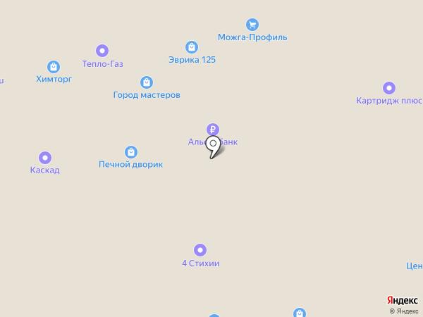 Ижевская мебель на карте Ижевска