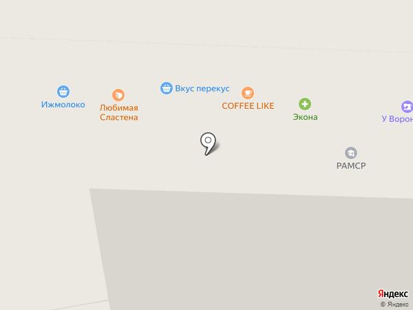 Умняшкин на карте Ижевска
