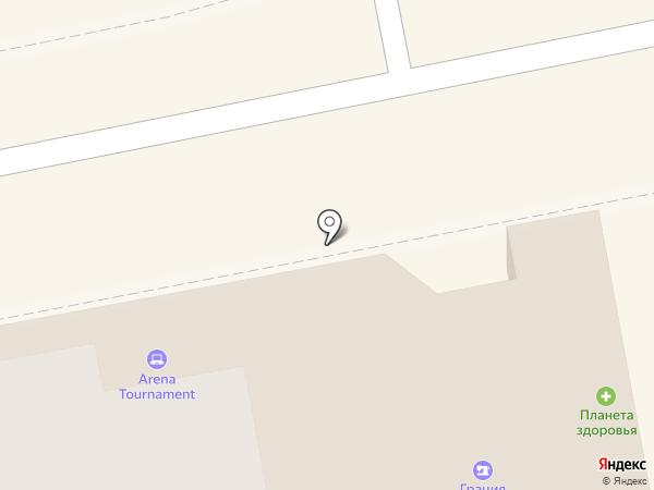 Силуэт на карте Ижевска