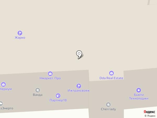 Затея на карте Ижевска