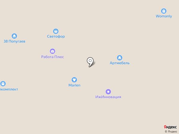 Много мебели на карте Ижевска