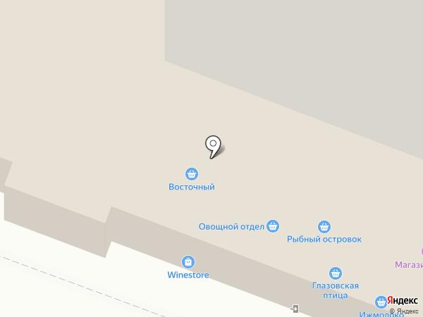 Глазовская птица на карте Ижевска