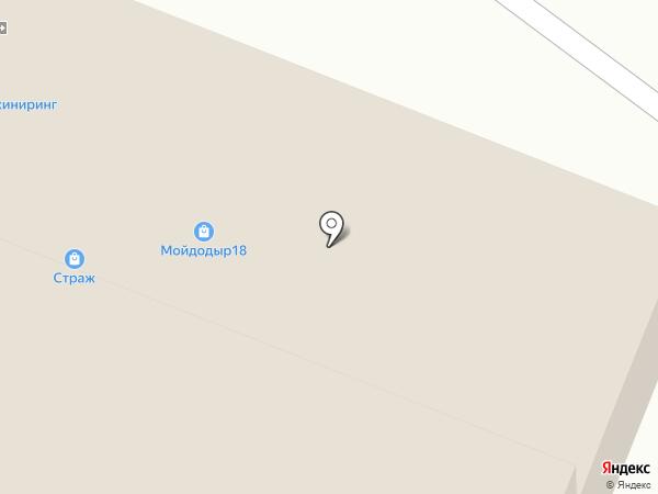 Страж на карте Ижевска