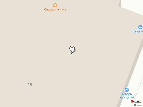 Отражение на карте Ижевска