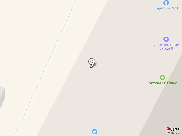 Садовый №1 на карте Ижевска