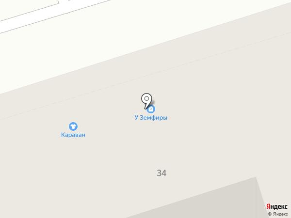 Караван на карте Октябрьского