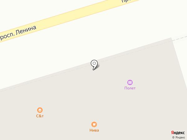 Полет на карте Октябрьского