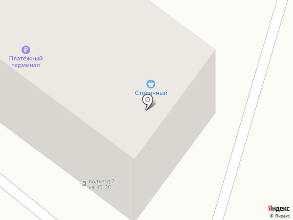 Столичный на карте Оренбурга