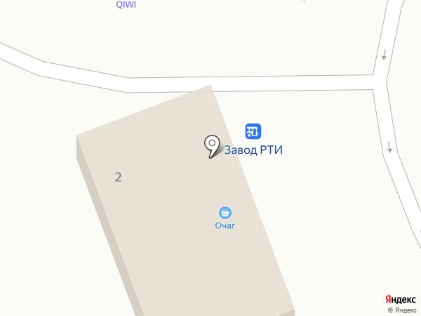 Очаг на карте Оренбурга