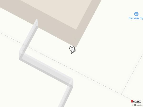 Летний Луг на карте Оренбурга