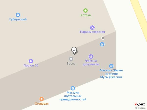 Фирма по изготовлению мягкой мебели на карте Оренбурга