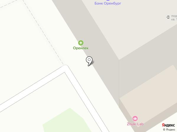 Оренлек на карте Оренбурга