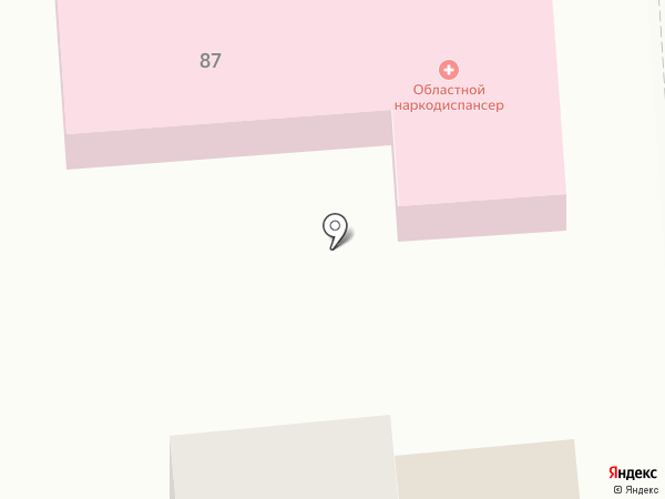 Оренбургский областной клинический наркологический диспансер на карте Оренбурга