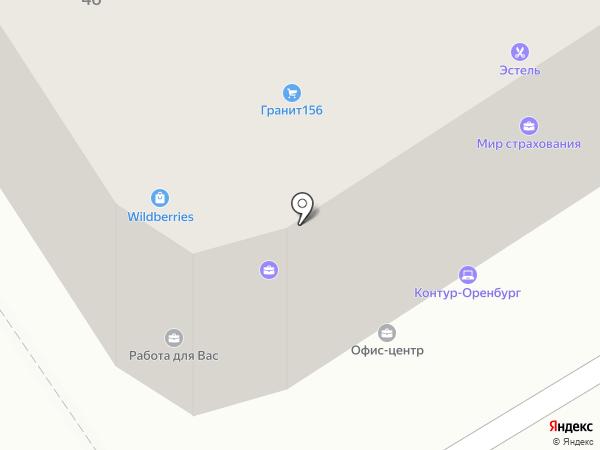М2 на карте Оренбурга