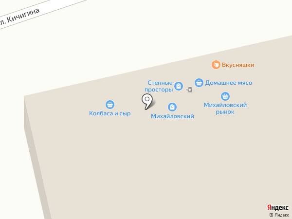 Михайловский на карте Оренбурга