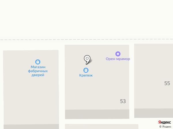 Магазин строительных товаров на карте Оренбурга