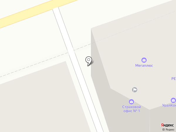 Желтая пуговица на карте Оренбурга