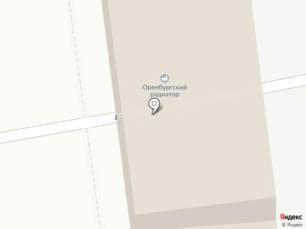 Теко на карте Оренбурга