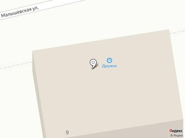Дружок на карте Оренбурга