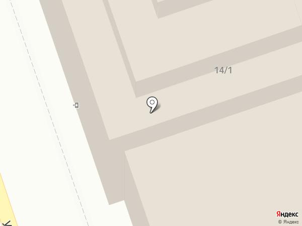 Лист на карте Оренбурга