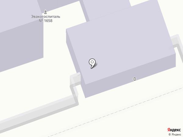 Оренбургский государственный педагогический университет на карте Оренбурга