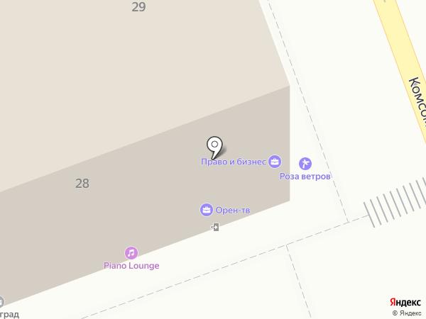 Роза ветров на карте Оренбурга