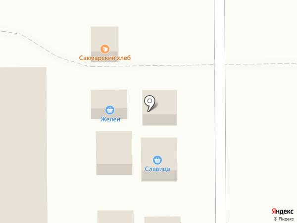Желен на карте Оренбурга