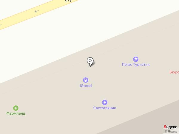 Акцент на карте Оренбурга