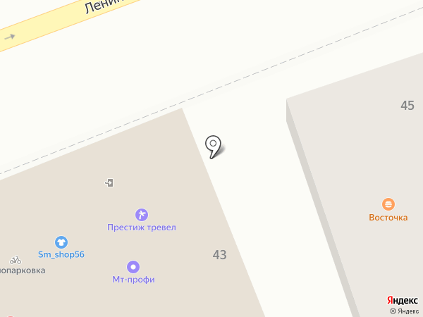 Простор 2000 на карте Оренбурга