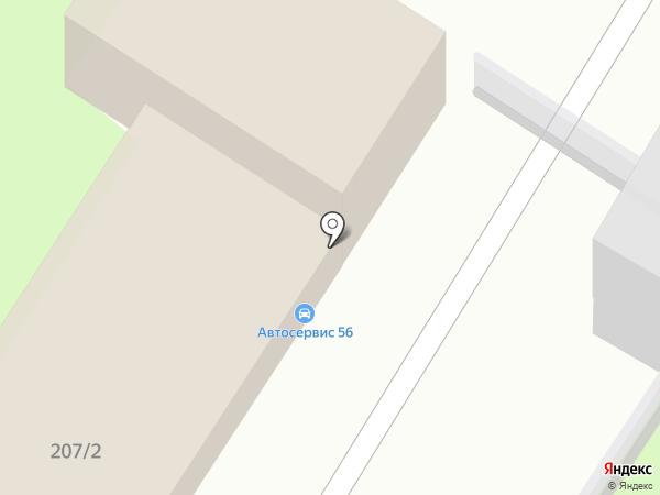 Икар на карте Оренбурга
