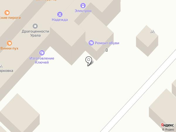 Киоск фастфудной продукции на карте Оренбурга