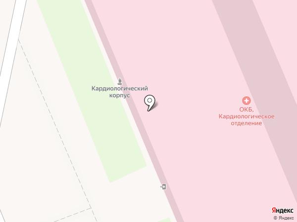 Оренбургская областная клиническая больница на карте Оренбурга