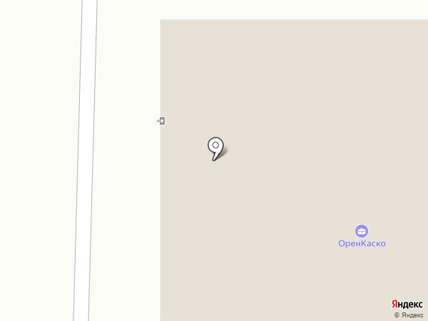 Заря на карте Оренбурга