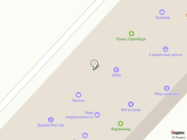 Модные окна на карте Оренбурга