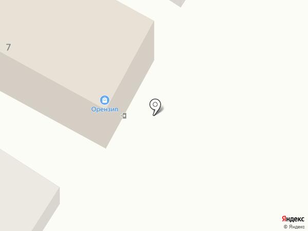 OrenZip на карте Оренбурга