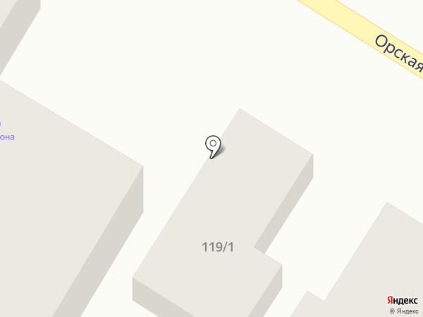 Аквазона на карте Оренбурга