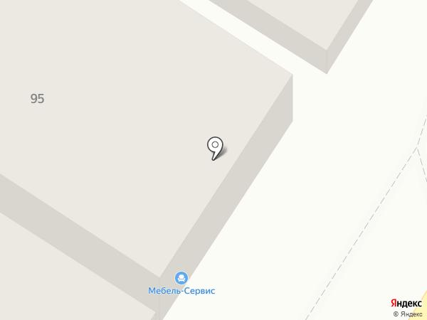 Мебель-Сервис на карте Оренбурга