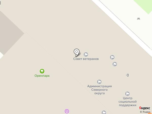 Казачья Усадьба на карте Оренбурга