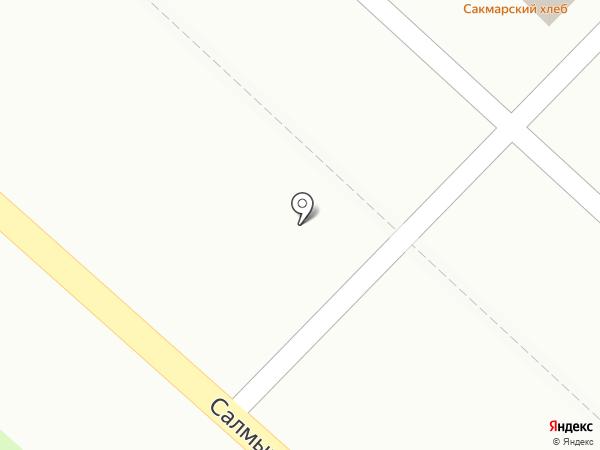 Жигулёвское на карте Оренбурга