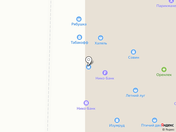 Ермолино на карте Оренбурга