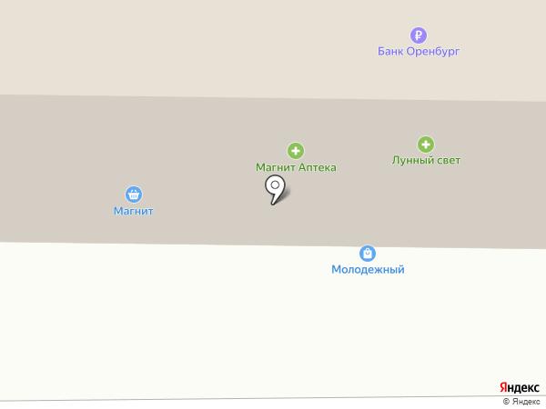 Магнит на карте Оренбурга