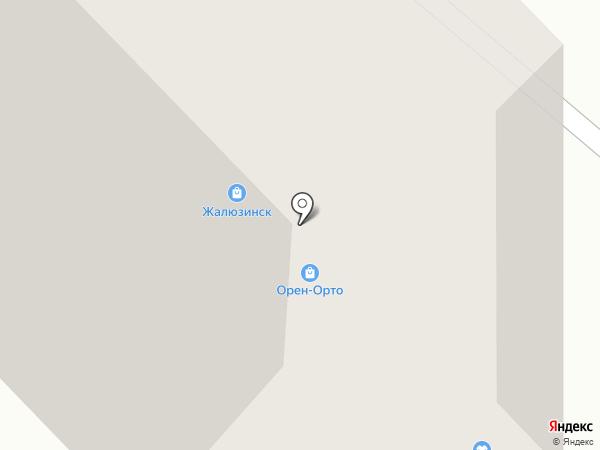 Орен-Орто на карте Оренбурга