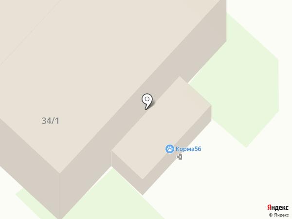 Зеленая горчица на карте Оренбурга