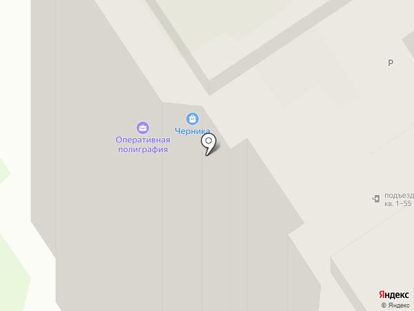 Черника на карте Оренбурга