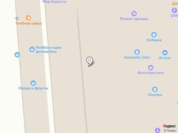 Киоск по продаже колбасных изделий на карте Оренбурга