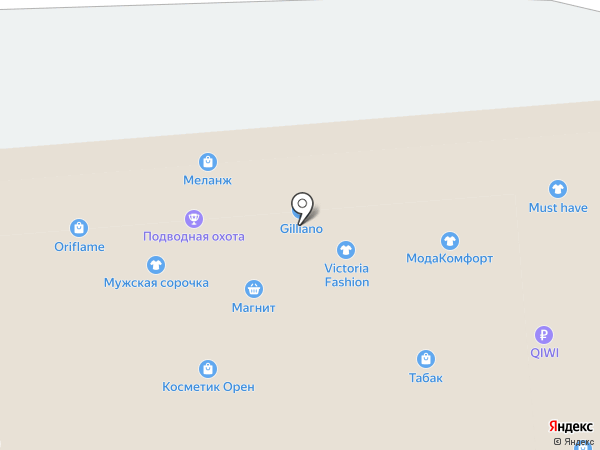 Студия маникюра на карте Оренбурга