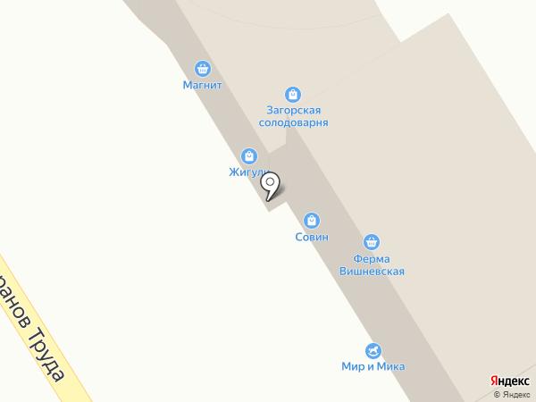 Жигули на карте Оренбурга