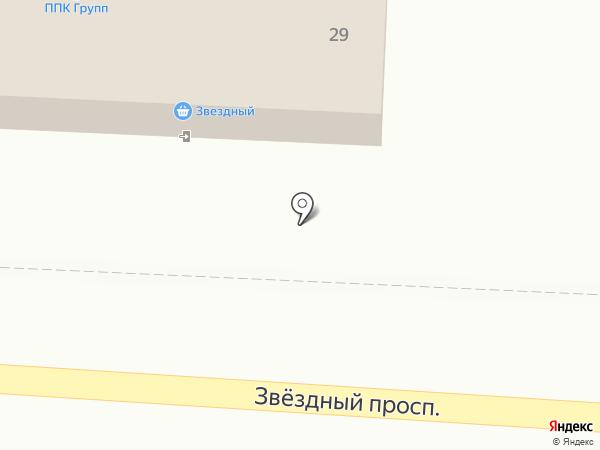 Звездный на карте Пригородного