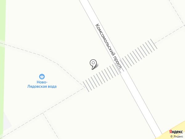 Ново-Лядовская вода на карте Краснокамска